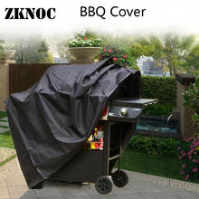 BBQ Cover Black Waterproof BBQ Accessories Grill Cover Outdoor Anti Dust Protector Rain Gas Charcoal Electric Barbeque Bag Gril(China)