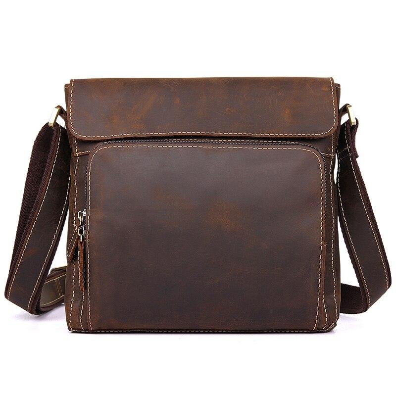 Männer Jmd Leder Horse Mode 7051r Schulter Messenger Verschiffen Brown Für Crazy Taschen Freies wIgqIaSrn
