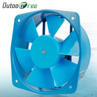 Dutoofree Single Flange 0.18a 65w Fan Axial Fan Blower Electric Box Cooling Fan Adjustable Wind Direction 220V/110V/380V