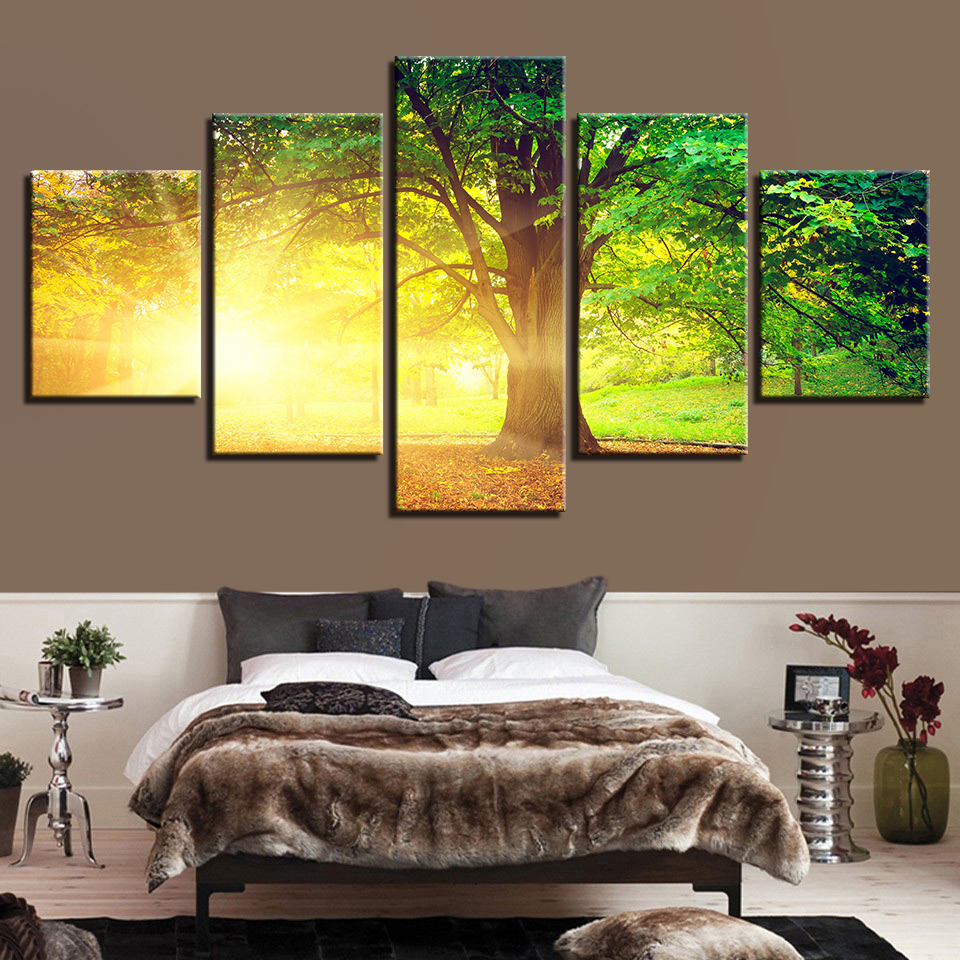 Frame Painting Wall HD Printed Modern Art Modular Poster Canvas 5 ...