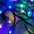 DC12V WS2811 LED smart string,addressable,with all black wire,IP68 rated;epoxy resin filled;100pcs a string