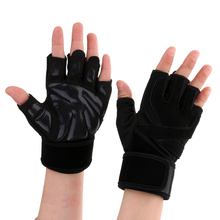 Cycling Half Finger Gloves Weight Lifting Training Gym Wrist Wrap Fitness Body Building Workout