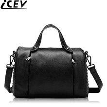 2017 New Fashion Rivet Women's Handbags Made of Genuine Leather High Quality Women Office Bags Handbags Women Famous Brands