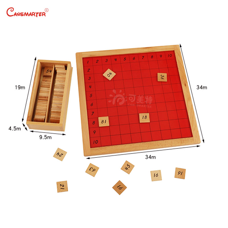 Mathematics Montessori Pythagoras Board Count Practice Kids Early Educational Preschool Teaching Wood Toys Game Box MA076 3 in Math Toys from Toys Hobbies