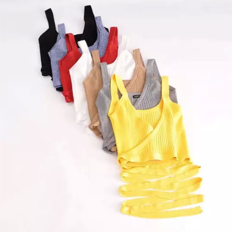 Tassel Knitted Cami Top Women 7 Colors Boho Fringe Trim Cute Brief Sleeveless Summer Tops 2018 Sexy Beach Casual Longest Bandage