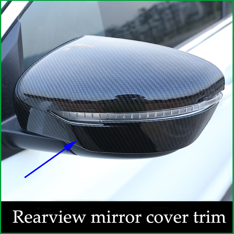 FOR NISSAN Rogue X TRAIL XTRAIL T32 2014 2015 2016 2017 2018 CHROME Carbon fibre Print REAR SIDE VIEW REARVIEW MIRROR COVER TRIM-in Chromium Styling from Automobiles & Motorcycles    1