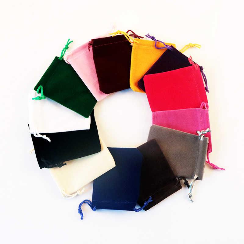 2 sztuk/partia 9x12 10x16 15x20 cm aksamitna torba Party Favor biżuteria cukierki opakowania na prezenty torby sznurkiem prezent torba woreczki może niestandardowe