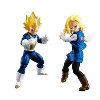 Dragon Ball Z Styling Vegeta Android 18 Figure Japan Cartoon Sculptures Collectible Mascot Kid Toys 100