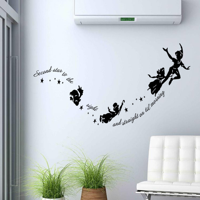 Foreign trade hot style Peter pan carved wall stickers Cartoon ...