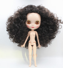 Blygirl,Blyth dolls, black curly hair, 19 and 7 joint new normal shell, 1/6 nude dolls
