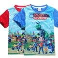 2017 Nova Marca de Moda Rebites Enferrujado Imprimir Slim Fit Manga Curta Camiseta Menino O-pescoço Casual baby boy T-Shirt de Algodão T camisas