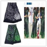 Великолепный французский чистая кружевной ткани для вечеринки платье с блестками в африканском стиле органзы сетки кружева cloth.2016 высокого