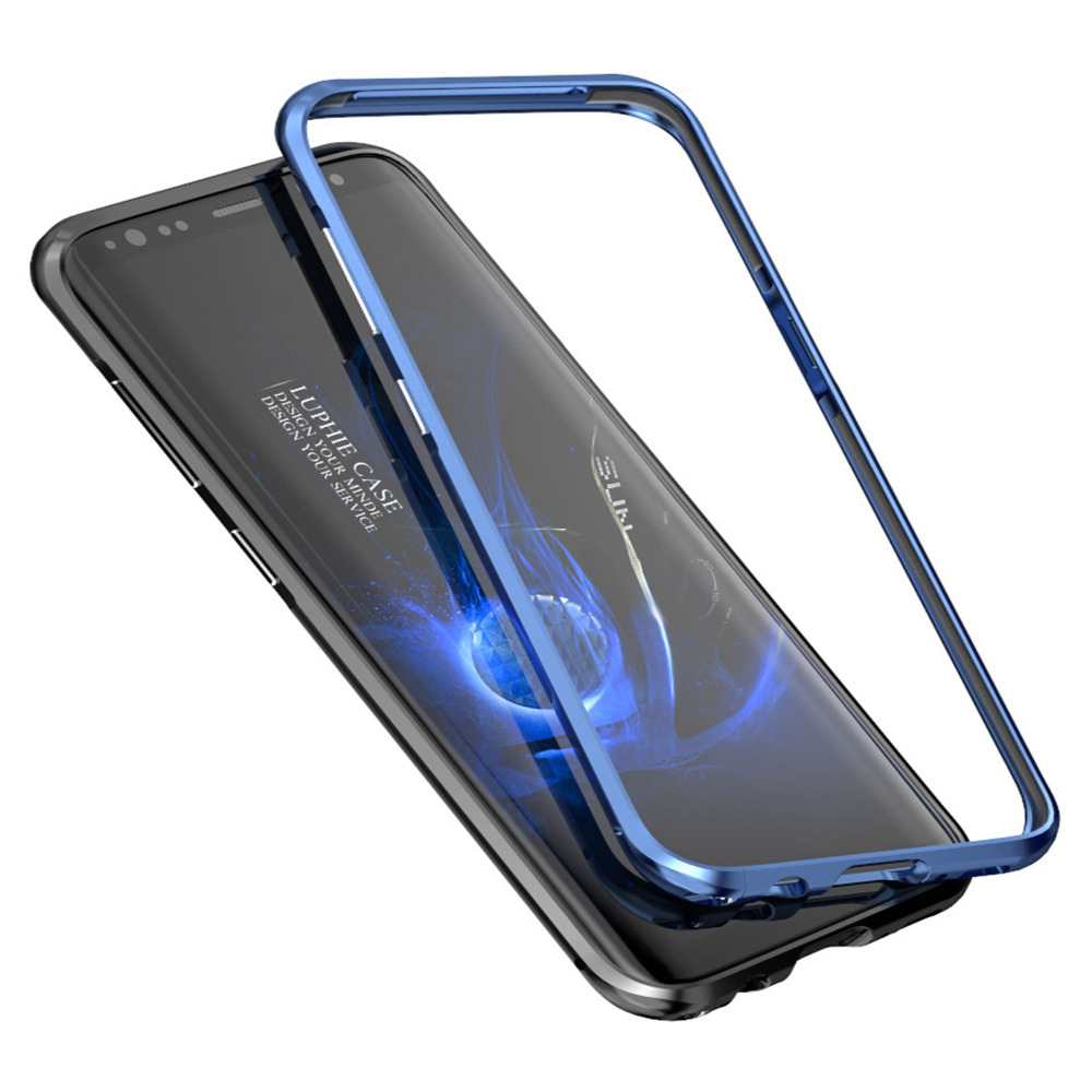 best website f3627 75cec US $11.98 |Luphie Luxury Aluminum Bumper Frame Cases Cover for Samsung  Galaxy S8 plus sleeve-in Phone Bumper from Cellphones & Telecommunications  on ...