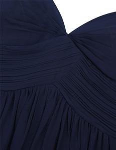 Image 5 - ผู้หญิงสุภาพสตรีชีฟองOff The ไหล่ชุดเจ้าสาวยาวผู้หญิงด้านข้างแยกสูงเอวความยาวพรหมชุดแต่งงาน