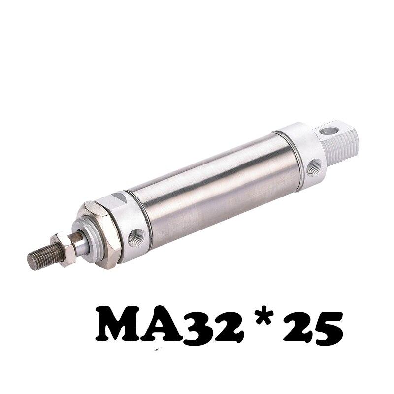 Cylindre d'air pneumatique en acier inoxydable MA 32*25 mini cylindre en acier inoxydable MA série MA 32*25