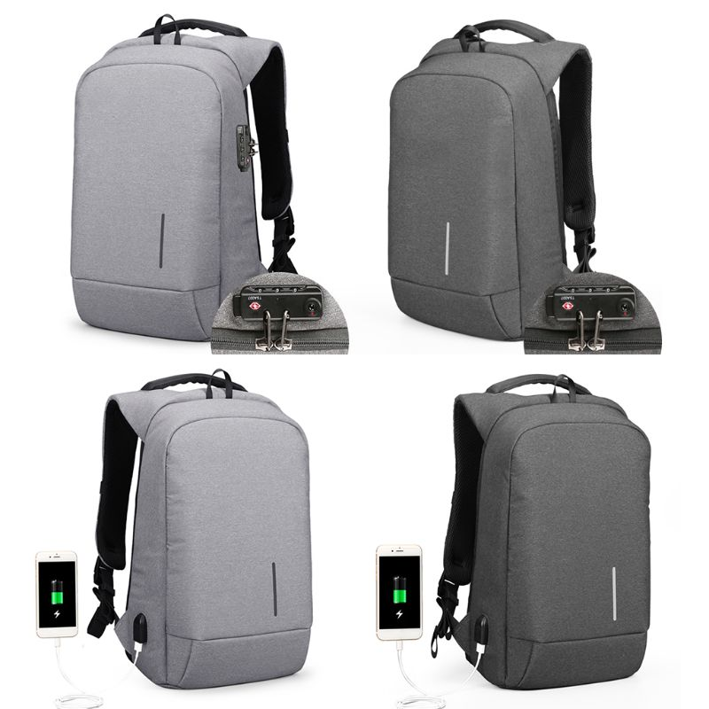 2019 New Men Anti-Theft Business Travel Computer Bag Laptop Backpack 15.6 with USB Charging Port2019 New Men Anti-Theft Business Travel Computer Bag Laptop Backpack 15.6 with USB Charging Port