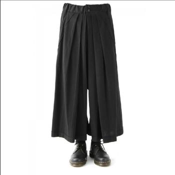 28-44 Men's Wide-leg Pants Draped Culottes,super Loose Casual Pants Hairstylist Personality Nine Pants Stage Plus Size Clothes