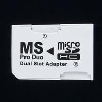 Двойной 2 слота Micro Memory TF для карты памяти MS Card Pro Duo адаптер для PSP 64 Мб до 8 Гб TF карта + карта памяти конвертер белый