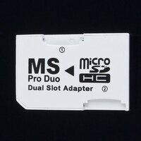 Dual 2 Slot MicroSD SDHC TF Auf Memory Stick MS Karte Pro Duo Adapter Für PSP 64MB Bis Zu 2GB TF Karte Memory Stick Konverter Dual