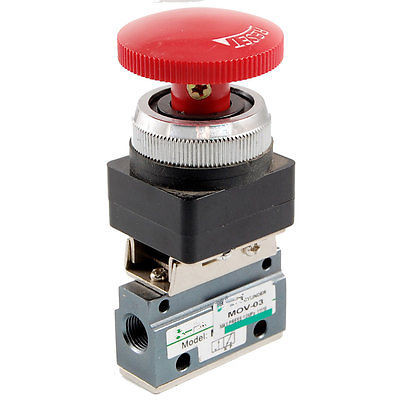 Mushroom Red Button 2 Position 3 Way Mechanical Valve MOV-03