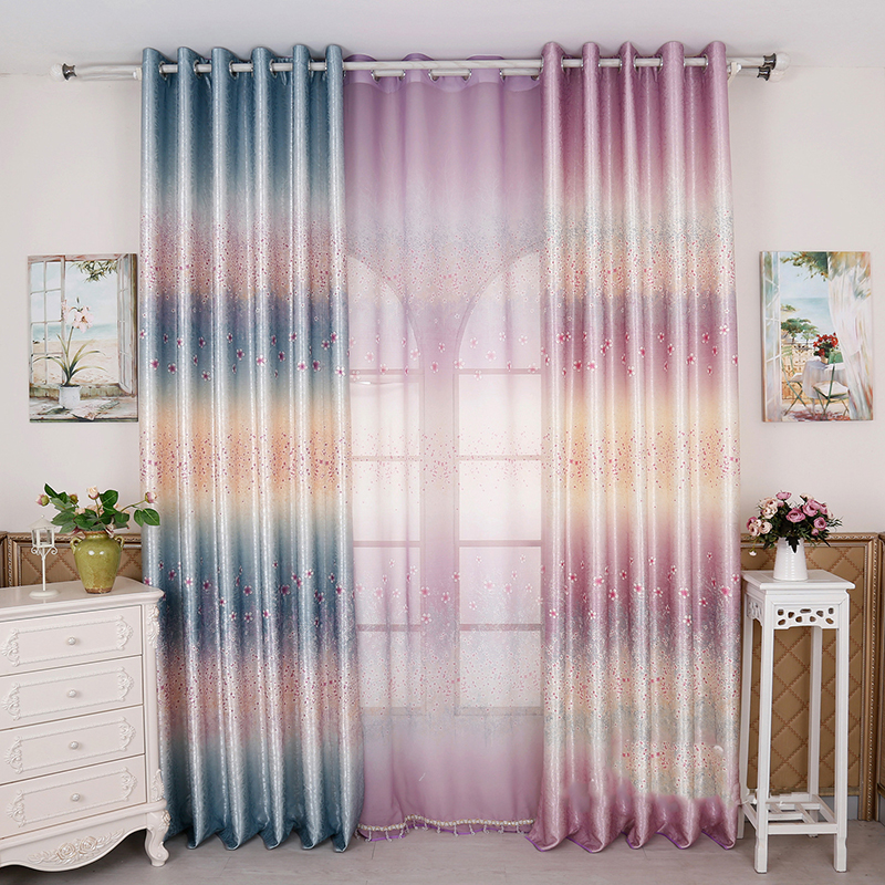 New Multicolor Blackout Window Curtains for children kids bedroom Fabric Curtains For living ...