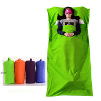 Ultralight Outdoor Portable Travel Hotel Sleeping Bag Inner Tank Polyester Portable Single Sleeping Bag Camping Sleep
