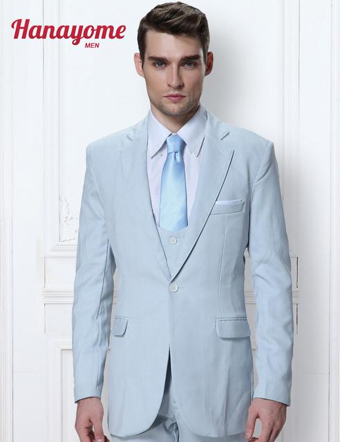 Double Breasted Terno Das Riscas dos homens Baratos Jaqueta Outwear Negócio Mens Azul Royal Separa Terno Terno & Calças 5 Cores D315