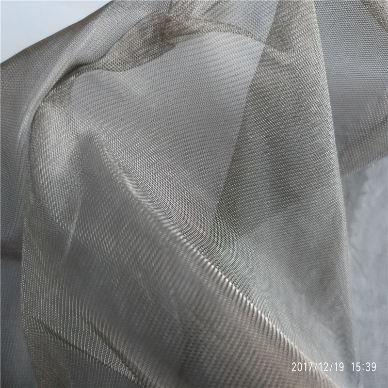 100% SILVER COATED Silver fiber Baby cart shielding anti radiation mosquito net fabric
