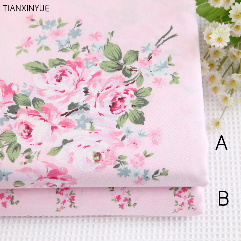 100% cotton fabric Victoria Pink roses Bedding fabric DIY for Sewing patchwork cushion Home textile fabrics