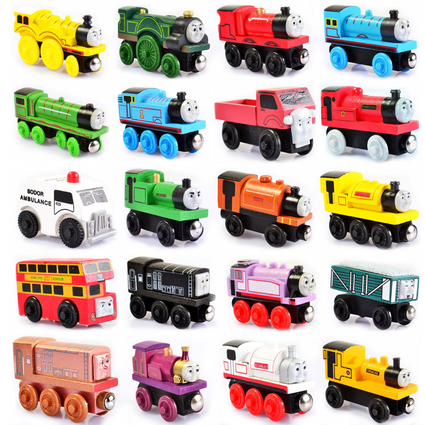 Thomas and Friends Anime Wooden Railway Trains Toy Trains Model
