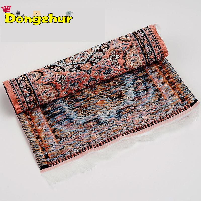 <font><b>Miniature</b></font> Ground Decorates Material Embroidered Turkey Carpet Rug Kids Toy Furniture Accessory Model For <font><b>1:12</b></font> <font><b>Dollhouse</b></font> WWP0757 image