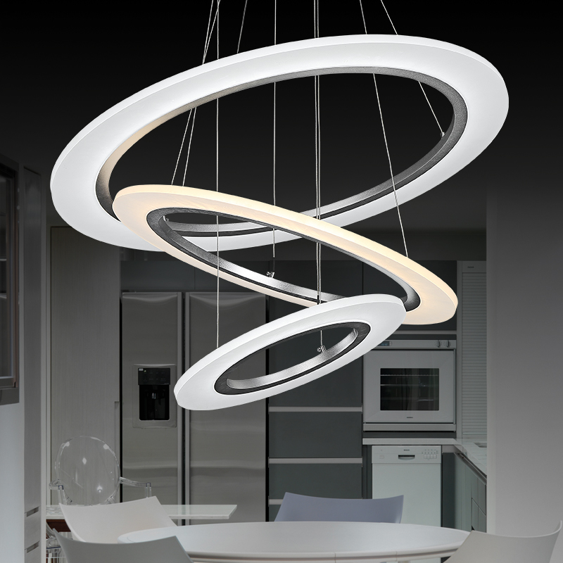 3 rings modern pendant lights lights for dinning for Luminaire suspendu 3 lampes