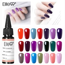 Elite99 Soak Off UV Gel Nail Polish Semi Permanent Nail Gel Varnishes Base No Wipe Top Lacquer Fashion Design Nail Art Makeup(China)