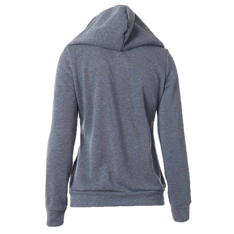 ba778ac4890 Hooded Pocket Women Hoodies Sweatshirts Plus Size Zipper Solid Cotton  jackets Outerwear V Neck Design Loose Pullover Female 40%W-in Hoodies    Sweatshirts ...