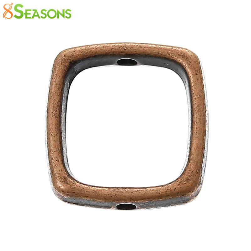 8SEASONS Frames Antique Copper Bead Fits-10mm-Beads 14mm-X-13mm 4/8--x-4/8-Rectangle