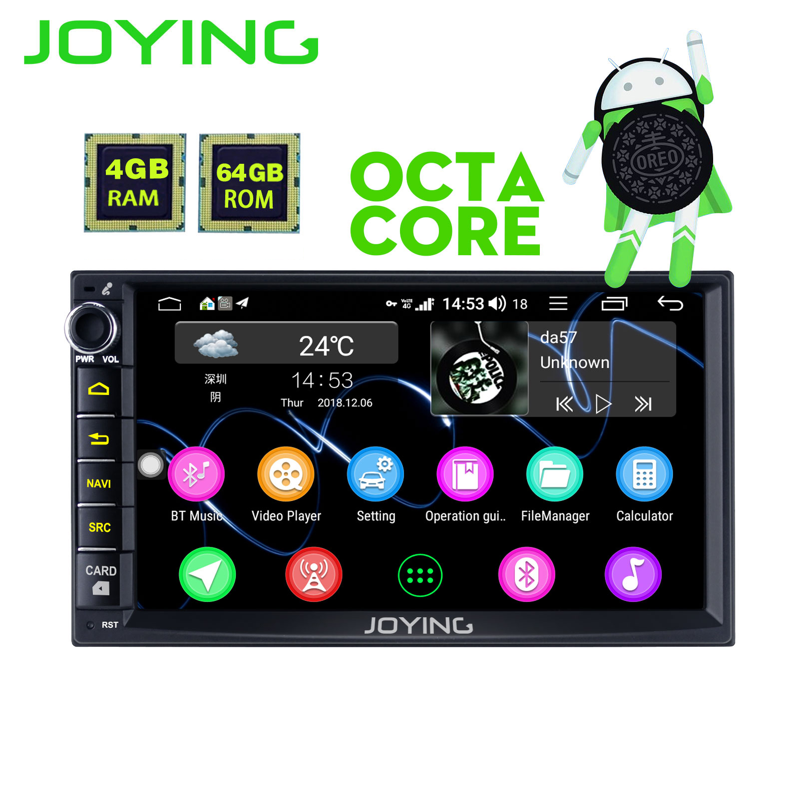 JOYING 2 din car radio player 4GB RAM 64GBROM Octa Core head unit GPS navigation support 4G for Nissan Sentra/Qashqai 2004-2010