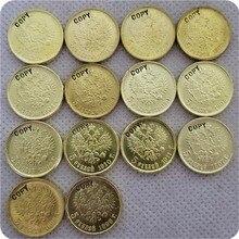Копия копии 14 X(1897-1911) Россия 5 рубль царя Николая II золотая монета КОПИЯ