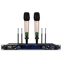 цена на YEAMIC S600 UHF Dual Channel 2 Handheld Microphones Wireless Mic System for Karaoke Stage Perofrmance