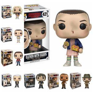 Image 2 - POP Stranger things little Eleven with eggos Dustin Dart Steve Dustin Snowball Dance PVC Action Figure toys for chlidren Gift