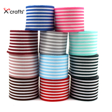 New 1 25MM  Grosgrain Ribbon Printed Stripe For DIY Hairbow Crafts Decoration 100yds/roll Free shipping