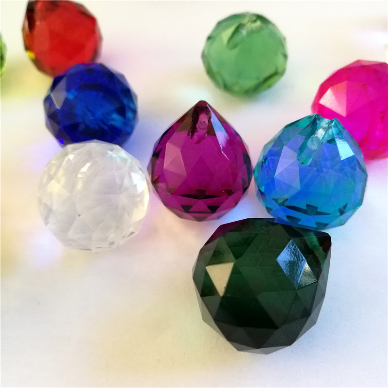 Free Shipping 260pcs Lot 10 Colors Mixed 20mm Crystal Faceted Ball For Wedding Party Decoration And