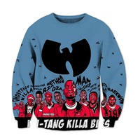 Harajuku 3D Sweatshirt Men Women Hip Hop Top Wu Tang Clan Print Hoodies Streetwear Outerwear Clothes