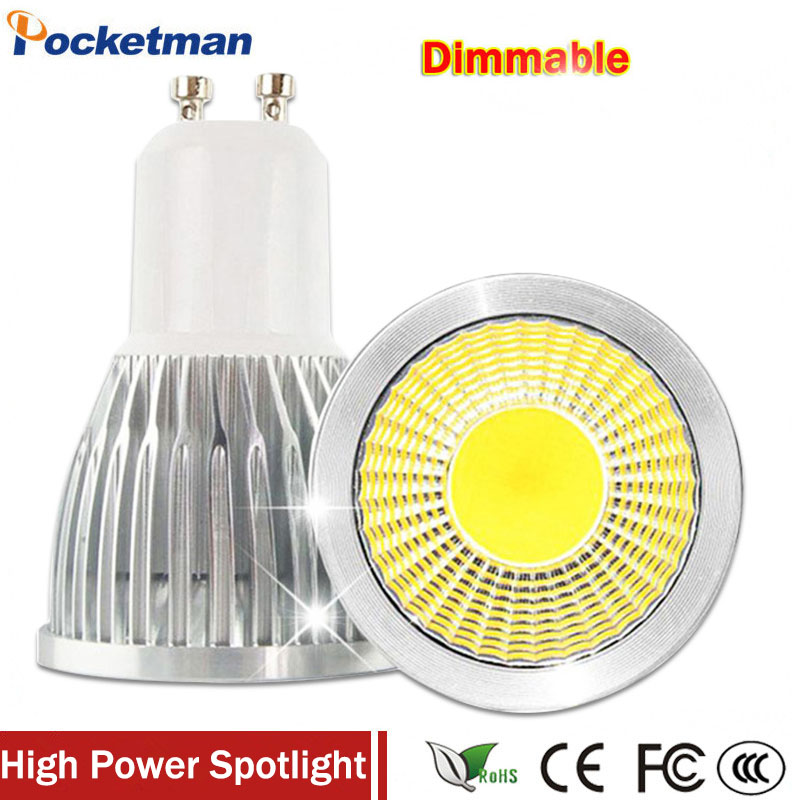 Super Bright GU10 LED Bulb 3W 5W 7W LED lamp light GU10 COB Dimmable GU 10 led Spotlight Warm/Cold White Free shipping free shipping ultra bright gu10 dimmable 9w cree led cob spot down light bulb 85 265v
