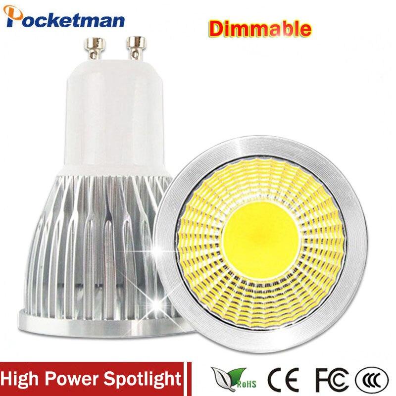 Super Bright GU10 LED Bulb 3W 5W 7W LED lamp light GU10 COB Dimmable GU 10 led Spotlight Warm/Cold White Free shipping