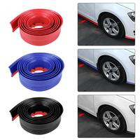 2 5 Meter Black Red Blue Car Front Bumper Spoiler Lip Protector Rubber Pad Scratch Guard