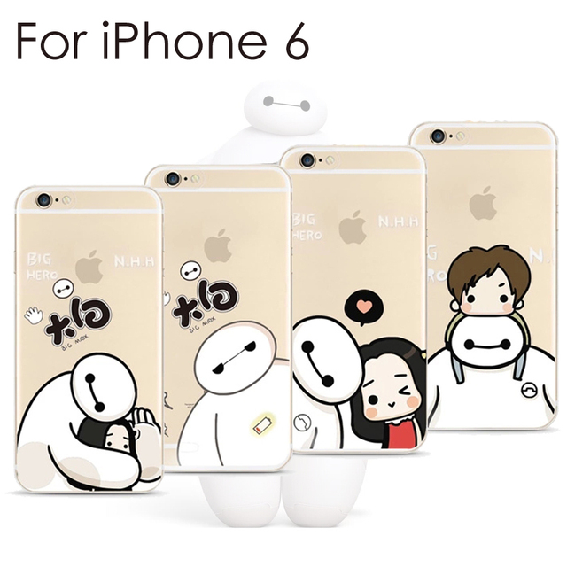 d632f1c5a859 Baymax TPU Soft Case for iPhone 6 4.7 inch Ultra thin Big hero i6 case back  cover free shipping