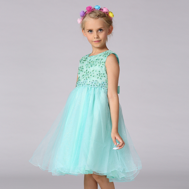 Retail Top Grade Embroidery Beading Floral Kids Prom Dresses Pageant ...