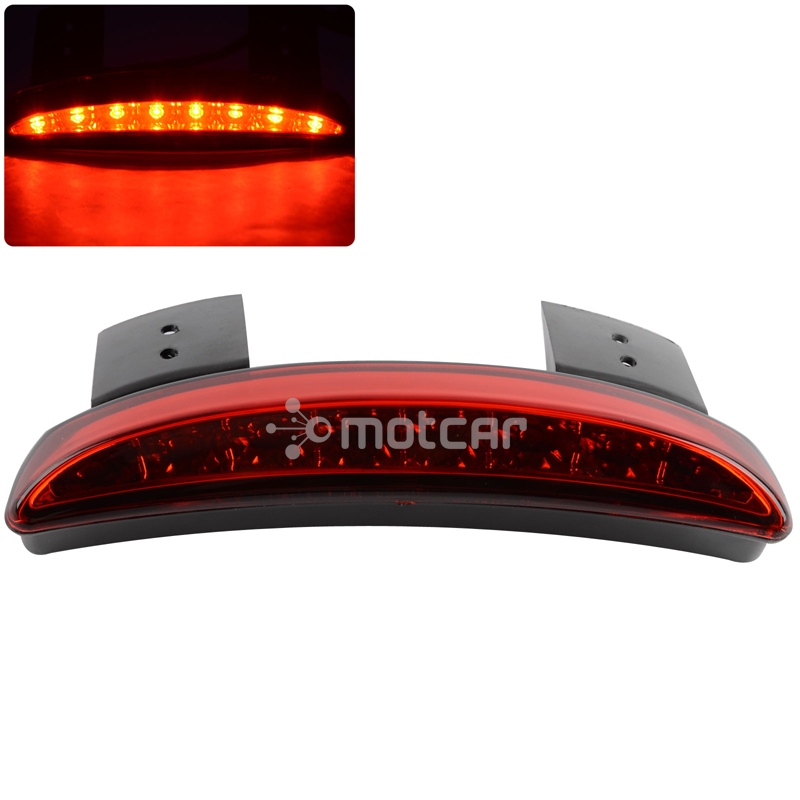 Back To Search Resultshome Brand New Red Lens Motorcycle Rear Fender Edge Led Tail Light Warning Light Fits For Harley Iron 883 Xl883n Xl1200n Chopped