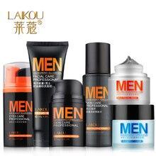 Men's Skin Care 6pcs Laikou Cosmetics, Sleeping Mask, Eye Moisturizing Cleanser, Toner, Mud Facial Mask Face Care