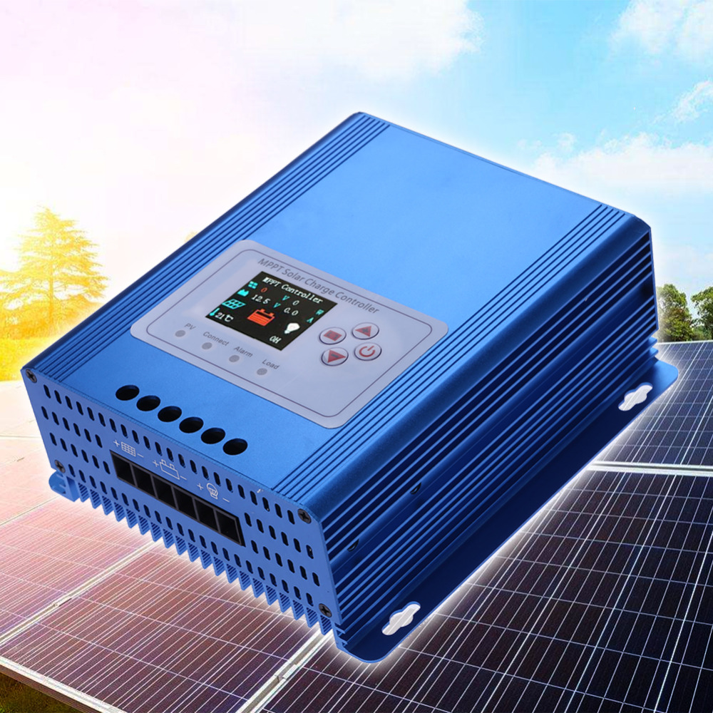 Lcd Display Solar Charge Controller Mppt 30a 12 24 48v